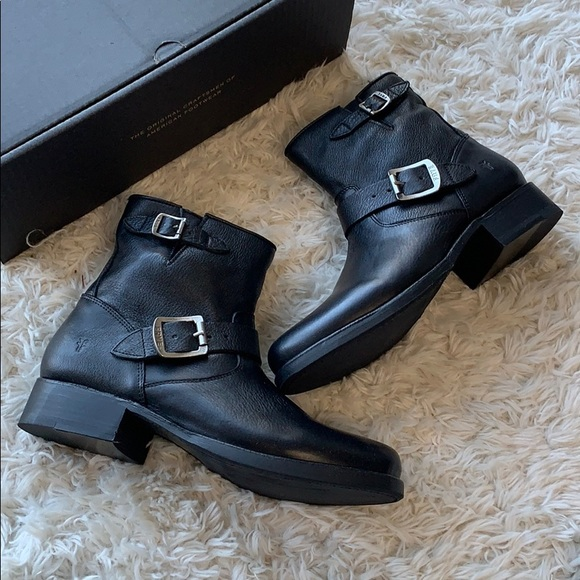 Flash Sale Black Leather Ankle Boots